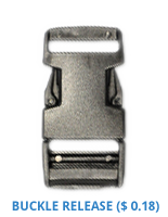 Custom Lanyard Attachments - 247L07 - Buckle Release