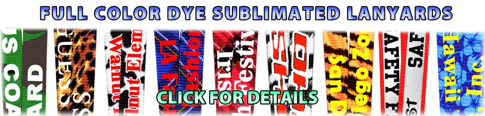 Full Color Dye Sublimated Lanyards